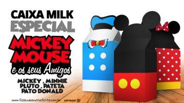 Caixa Milk Mickey e sua Turma
