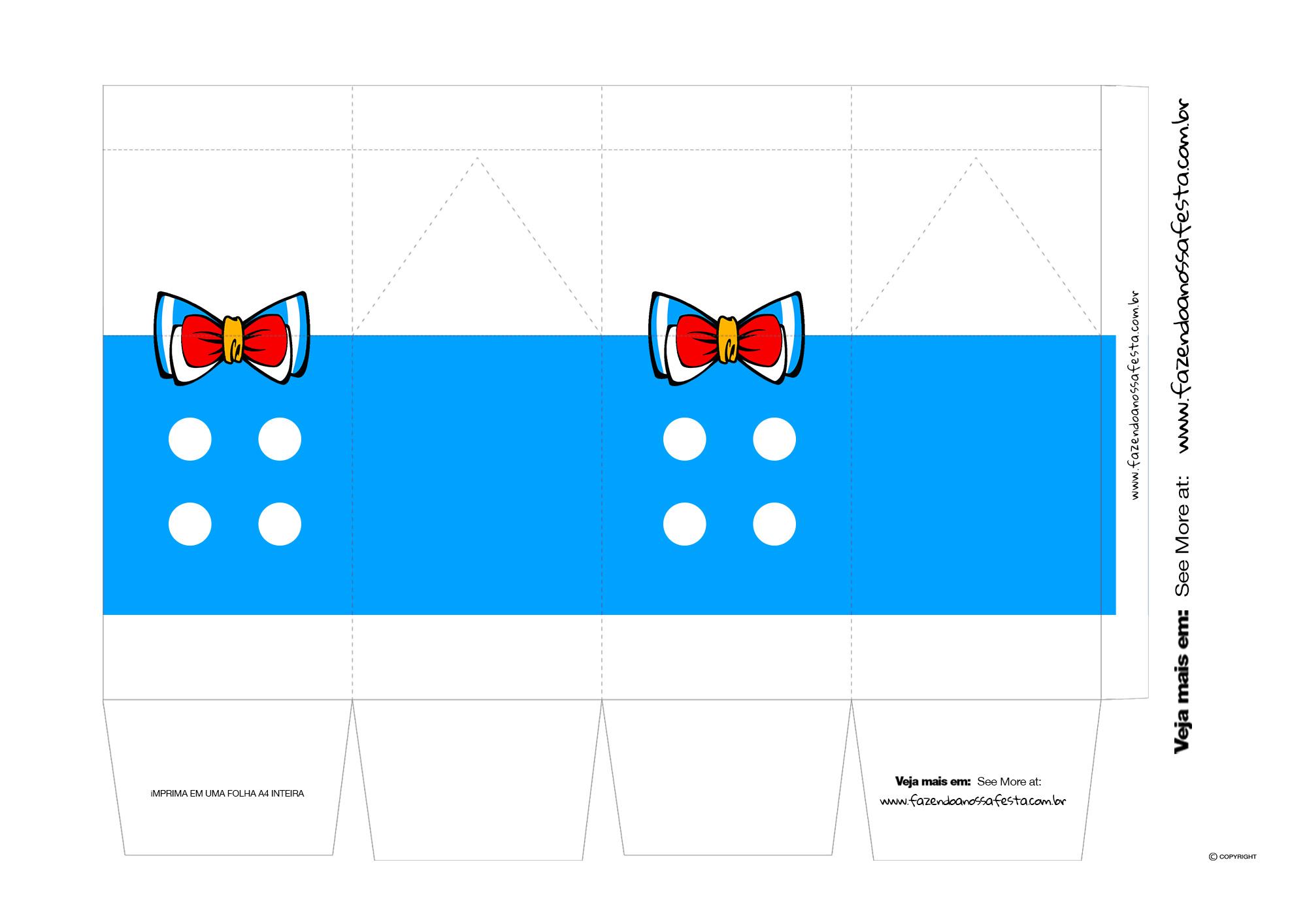Caixa Milk Turma do Mickey Pato Donald
