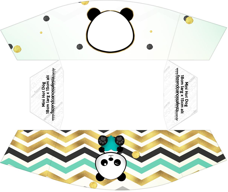 Caixa Mini Cachorro quente Panda Menino
