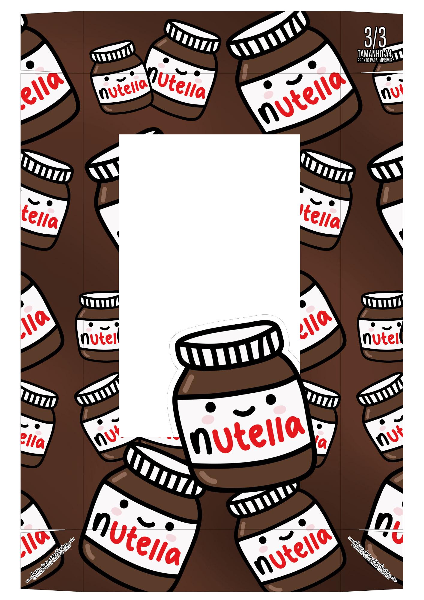 Caixa Kit Mini Confeiteiro Chocolates Nutella parte de cima 1