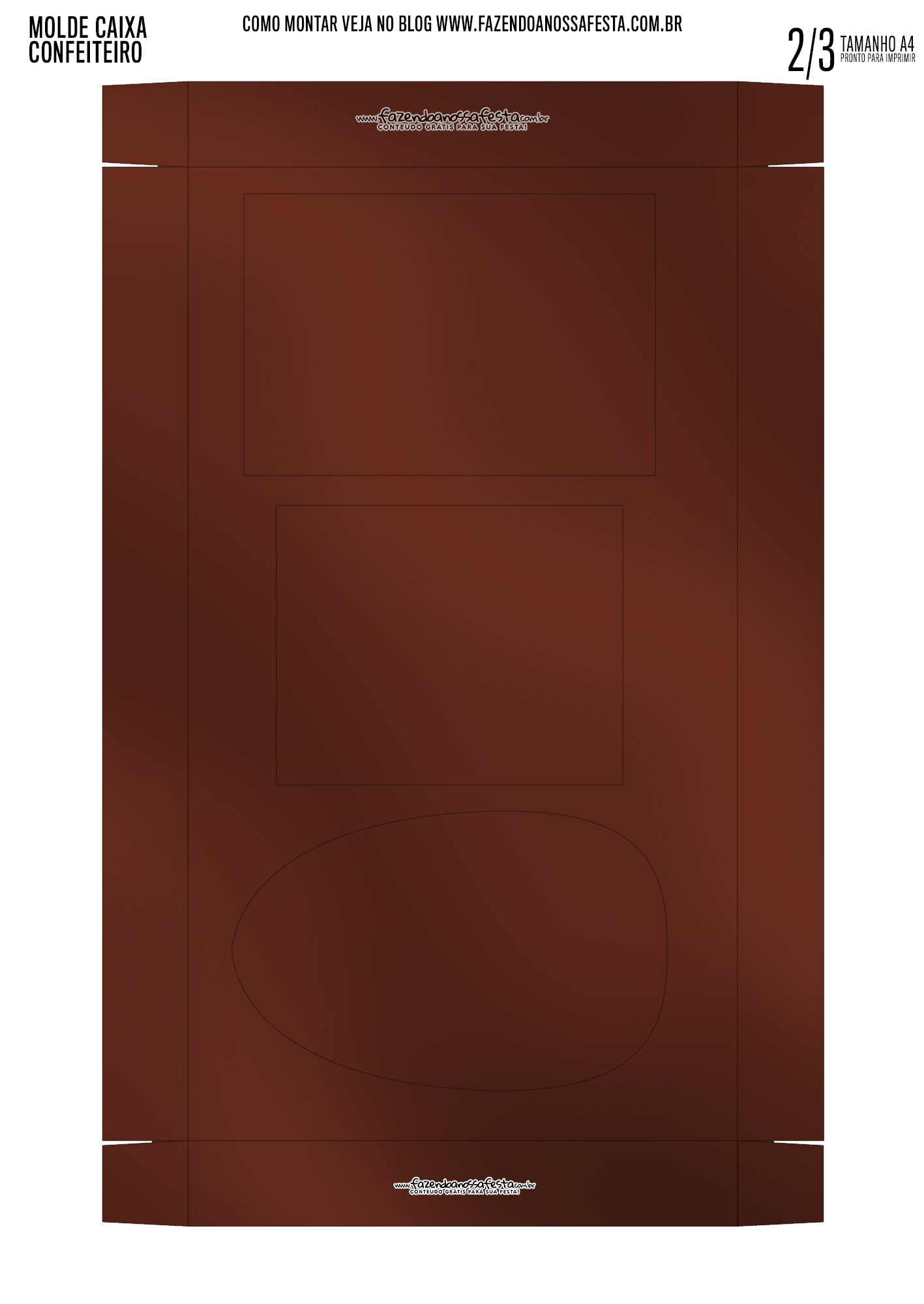 Caixa Kit Mini Confeiteiro Chocolates Nutella parte de dentro