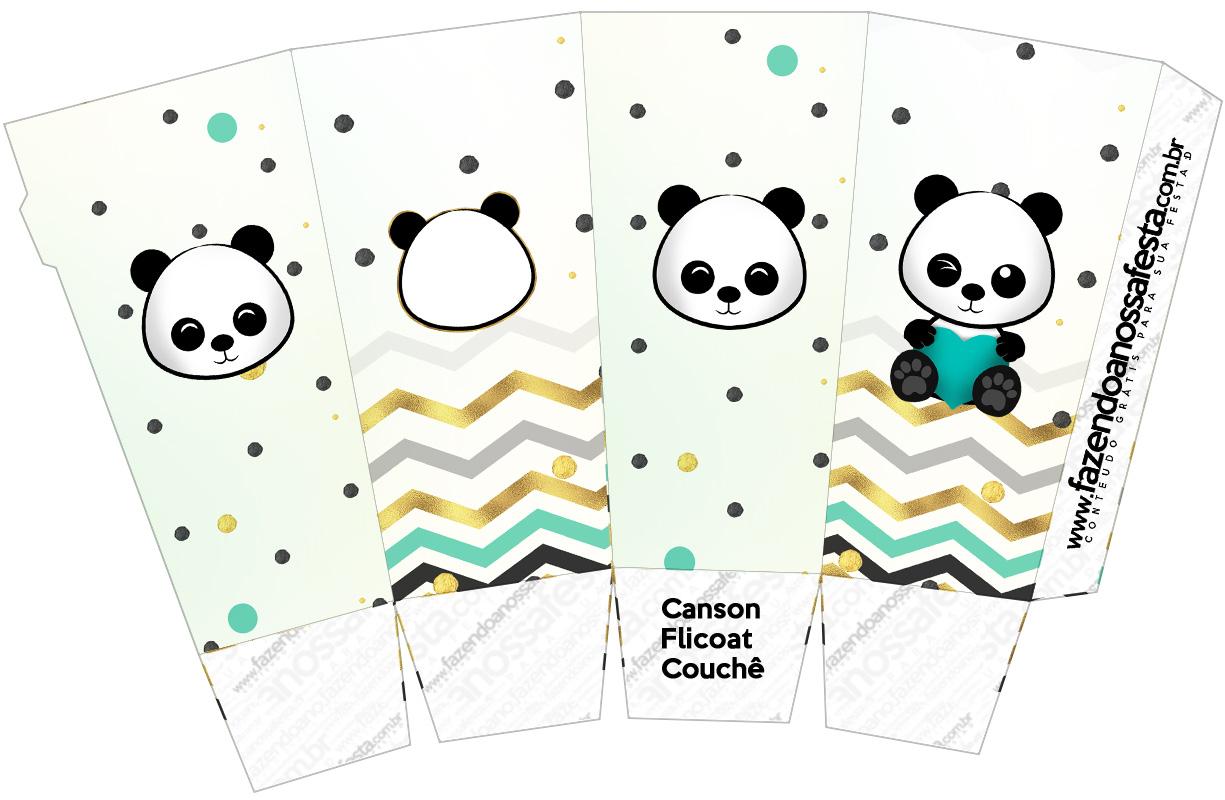 Caixa Pipoca Panda Menino