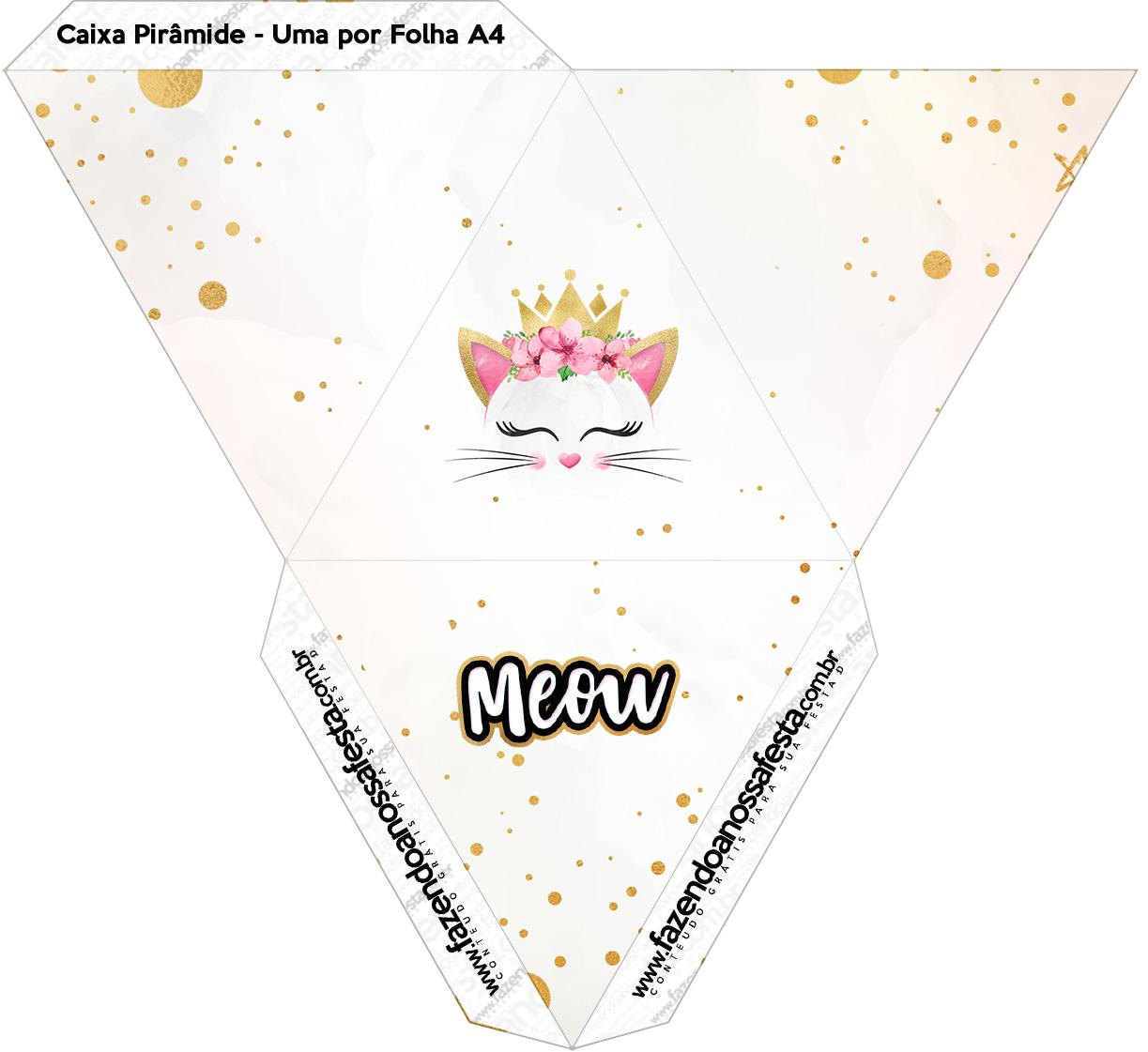 Caixa Piramide Gatinho