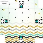 Caixa bombom Fundo Panda Menino