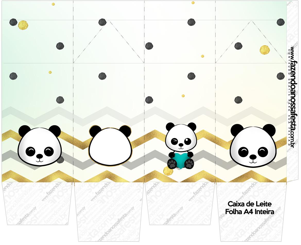 Caixa de leite Panda Menino
