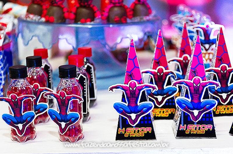 Caixinhas Festa Homem Aranha do Heitor