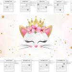 Calendario 2017 Gatinho