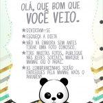 Cartao Agradecimento Quadro Panda Menino