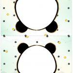 Cartao Agradecimento de mesa Panda Menino