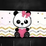 Chalkboard Panda Menina