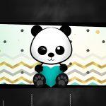 Chalkboard Panda Menino