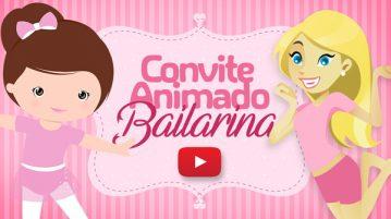 Convite Animado Virtual Bailarina