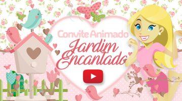Convite Animado Virtual Jardim Encantado