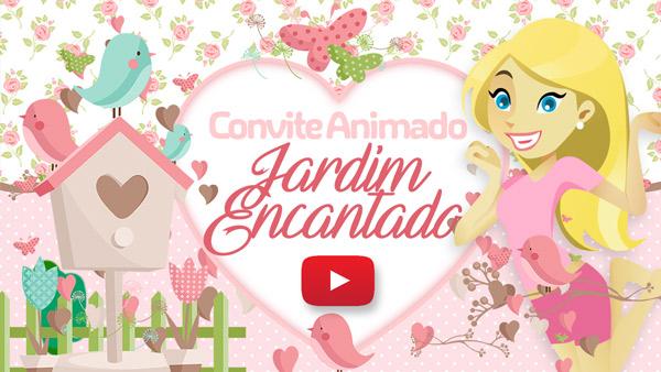 Convite Animado Virtual Jardim Encantado Gratis Para Baixar