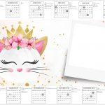 Convite Calendario 2017 Gatinho