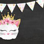 Convite Chalkboard Gatinho 3