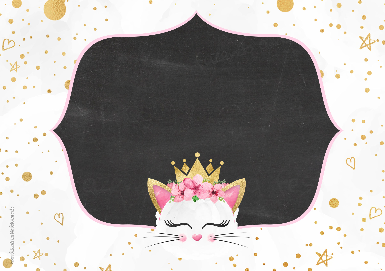 Convite Chalkboard Gatinho 7