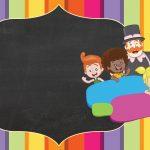 Convite Chalkboard Mundo Bita 3