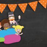 Convite Chalkboard Mundo Bita 4