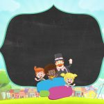 Convite Chalkboard Mundo Bita 6