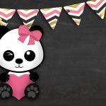Convite Chalkboard Panda Menina 7