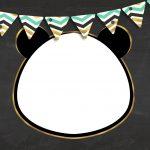 Convite Chalkboard Panda Menino 3