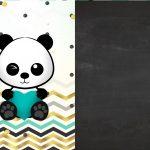 Convite Chalkboard Panda Menino 4
