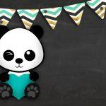 Convite Chalkboard Panda Menino 5