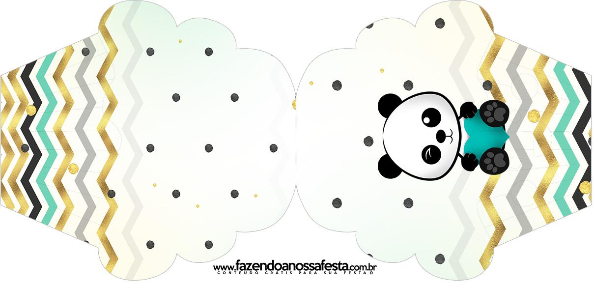 Convite Cupcake Panda Menino