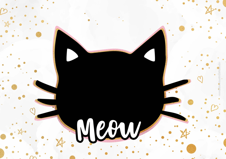 Convite Gatinho Meow