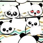 Convite Gibi Panda Menino
