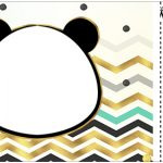 Convite Ingresso Panda Menino