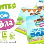 Convite Mundo Bita para Editar e Imprimir em Casa Grátis