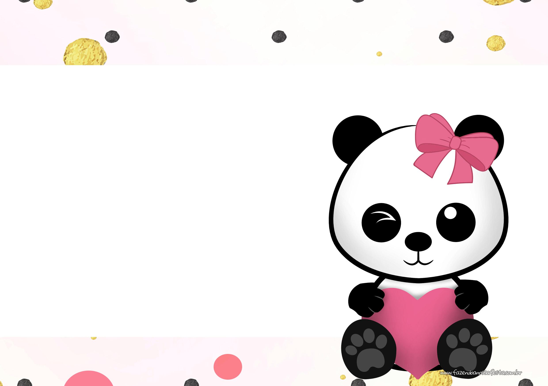 Convite Panda Menina 2