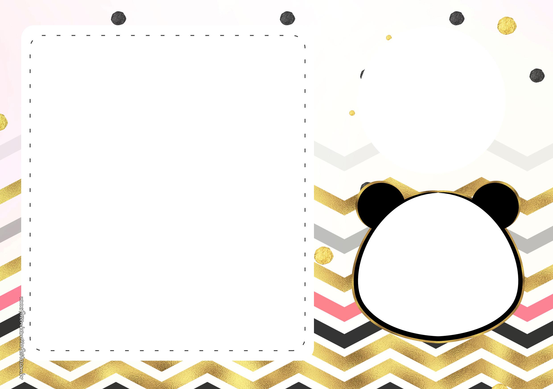 Convite Panda Menina 4