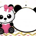 Convite Festa Panda Menina 6
