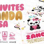 Convite Panda Menina Grátis para Baixar e Imprimir em Casa