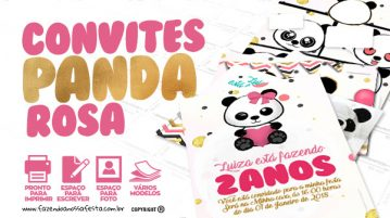 Convite Panda Menina Gratis