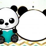 Convite Panda Menino Festa infantil
