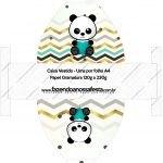 Convite Vestido 83 Panda Menino