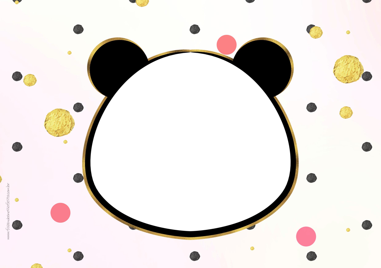 Convite Panda Menina 7
