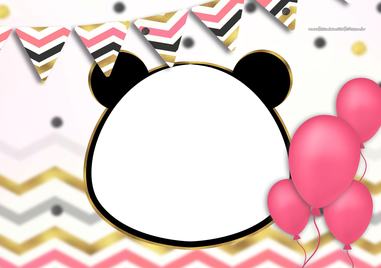Convite Festa Panda Menina 8