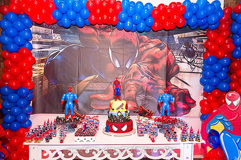 Decoracao Festa Homem Aranha do Heitor