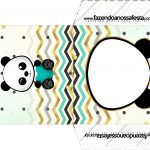 Envelope CD DVD Panda Menino