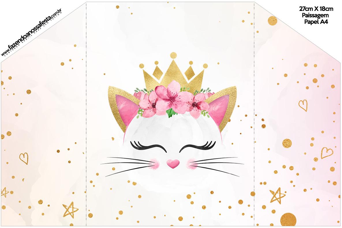 Envelope Convite Gatinho kit festa