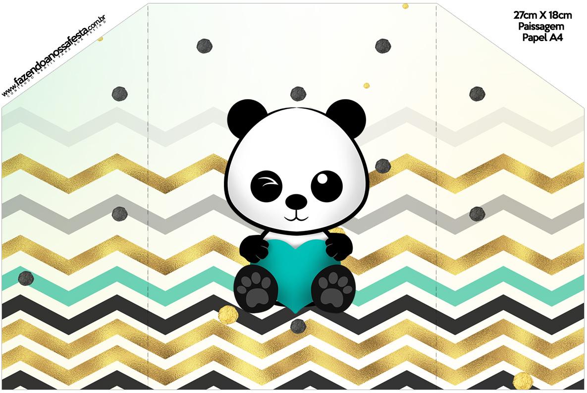 Envelope Convite Panda Menino