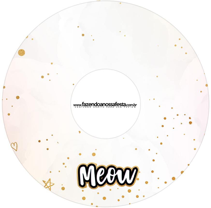 Etiqueta CD DVD Gatinho
