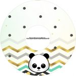 Etiqueta CD DVD Panda Menino Kit Festa