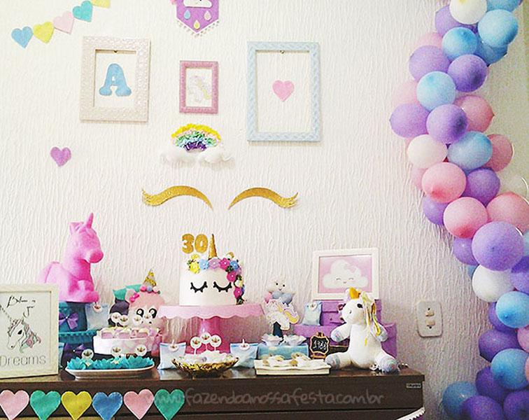 Festa Unicornio 30 anos da Amanda 9
