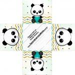 Forminha docinho quadrada Panda Menino